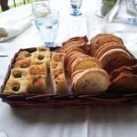 Fresh bread and schiacciata